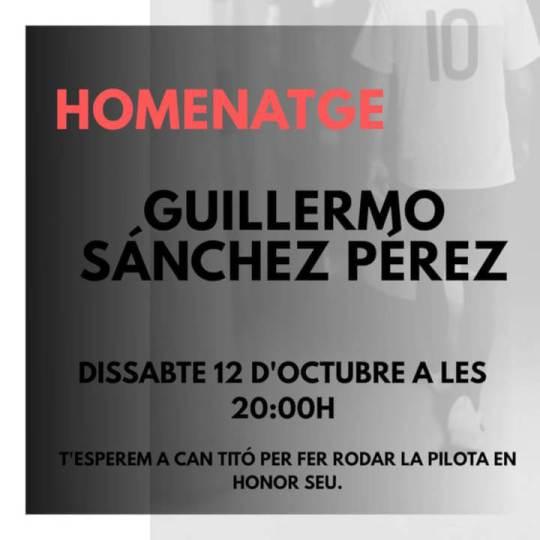 Homenatge Guillermo CFS Can Tito oct19
