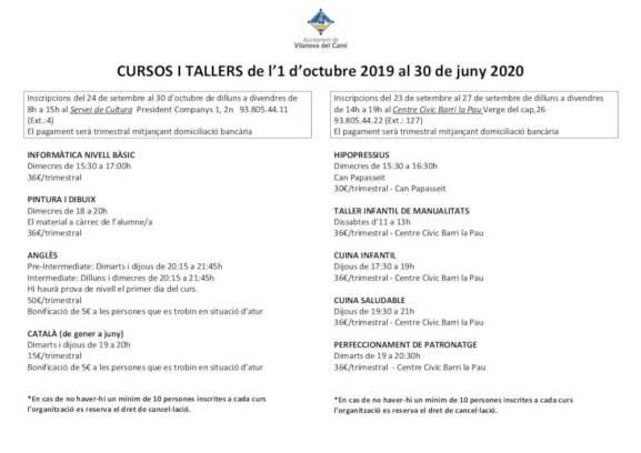 Publicitat cursos 2019-2020