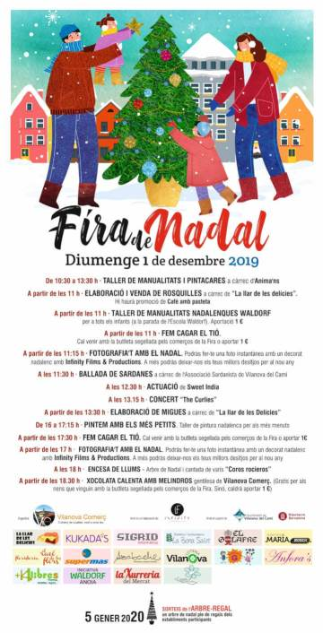 Cartell de la  Fira de Nadal 2019