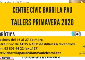 Cartell publi tallers CCBP primavera 2020-imatge