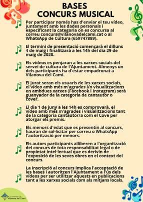 Concurs Vilanova canta a casa bases cartell