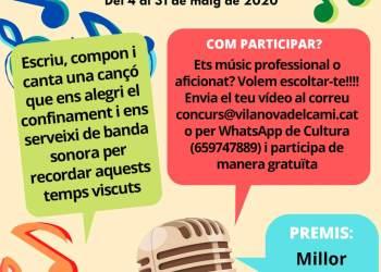 Concurs Vilanova canta a casa cartell
