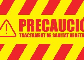 Precaucio tractament cartell mai20