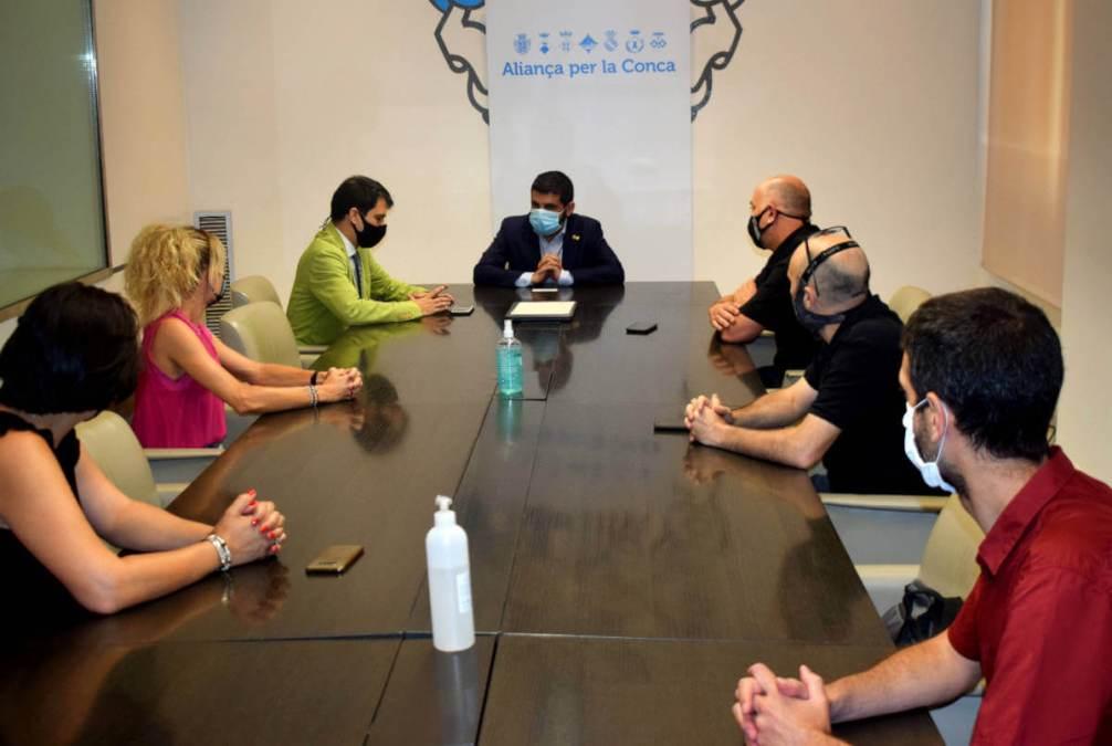 Visita conseller Chakir El Homrani