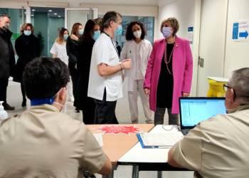 Alba Verges a Hospital Igualada vacunacio ICS Catalunya Central