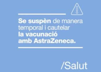 Suspensio temporal vacunacio astrazeneca - Imatge ICS Catalunya Central-DT