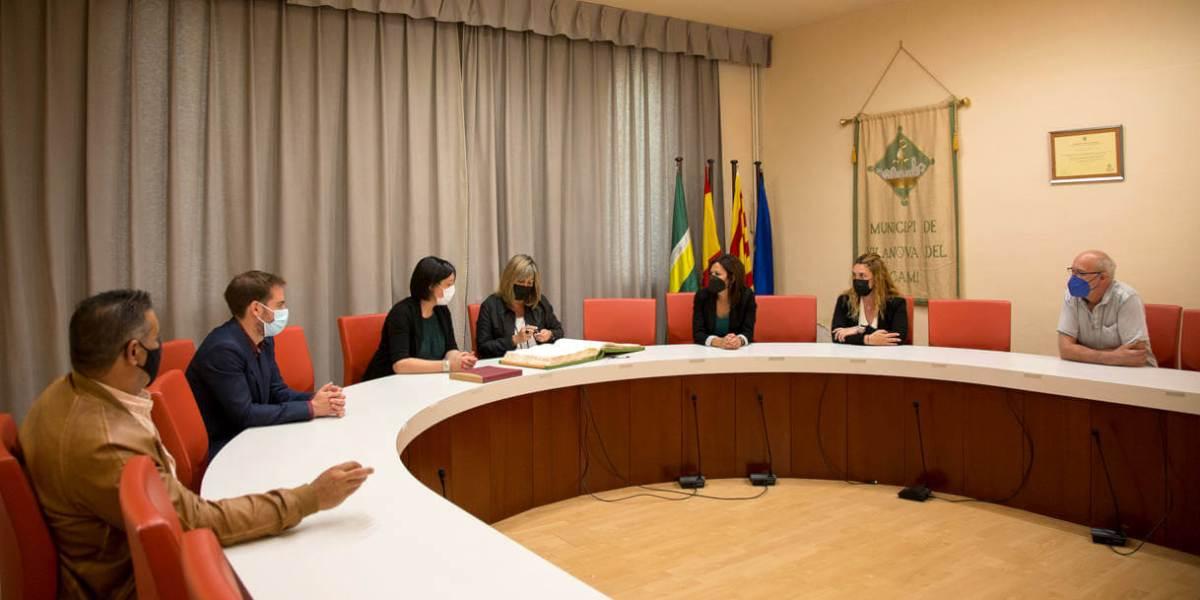 Visita Nuria Marin presidenta diputacio maig 21 1