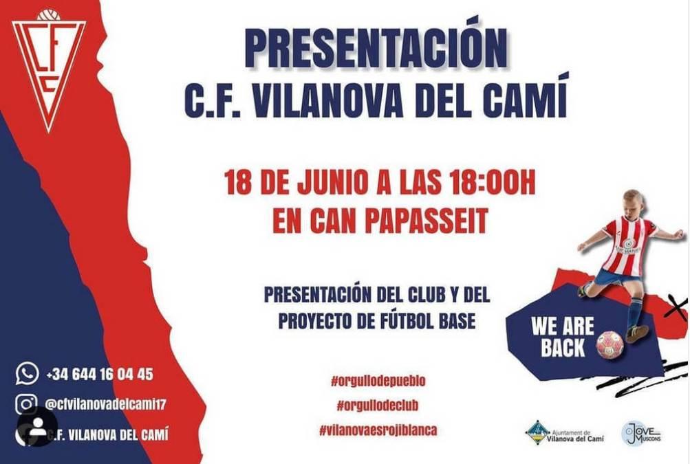 Cartell de la convocatòria del CF Vilanova