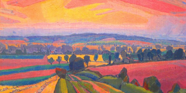 painting by Spencer Gore Icknield way Letchworth scene