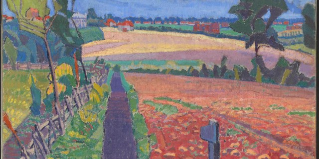 painting by Spencer Gore The Cinder Path Letchworth