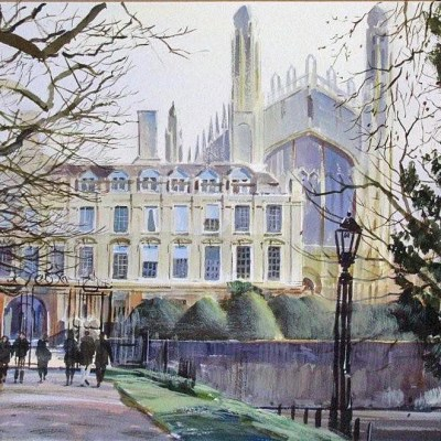 watercolour KIngs College Cambridge