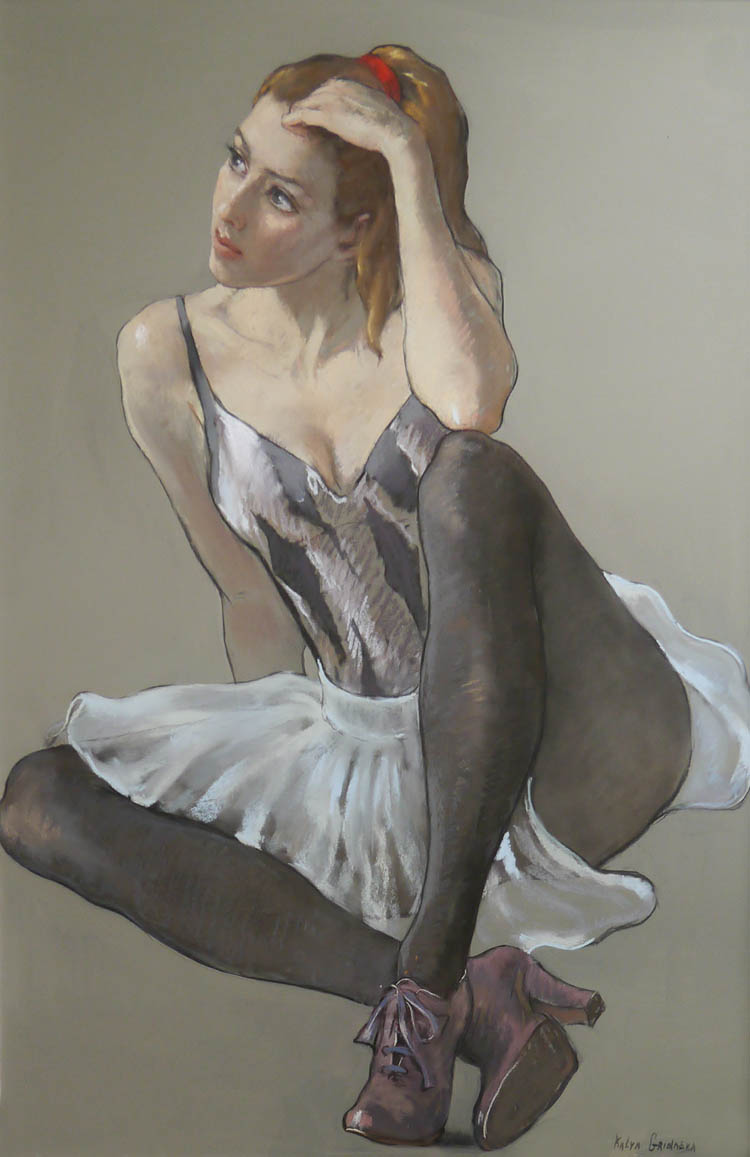 Study of a Sitting Dancer