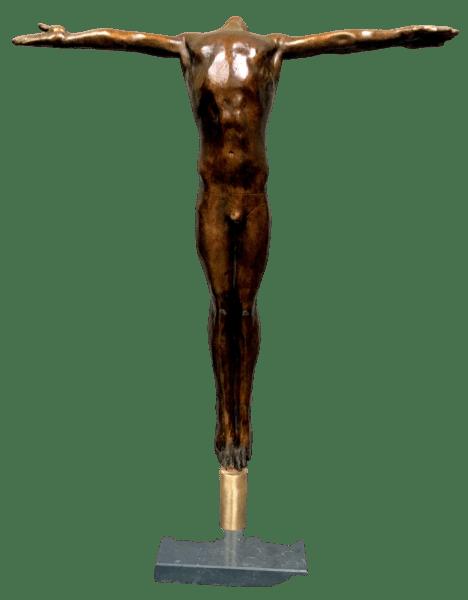 Cross arm diver bronze