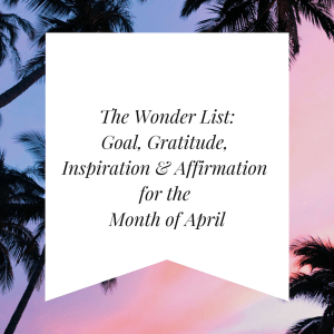 The Wonder List April Image