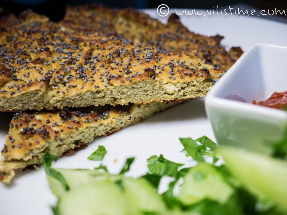 Пърленка с тиквено брашно и маково семе