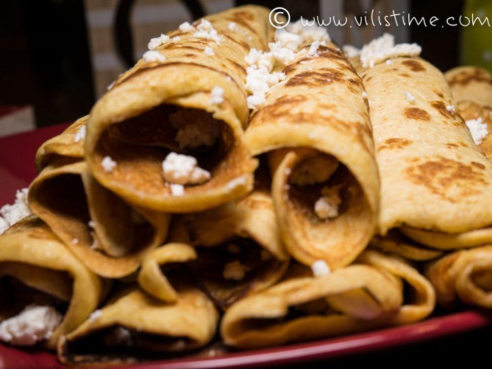 Вкусни палачинки с брашно от лимец и сиренце