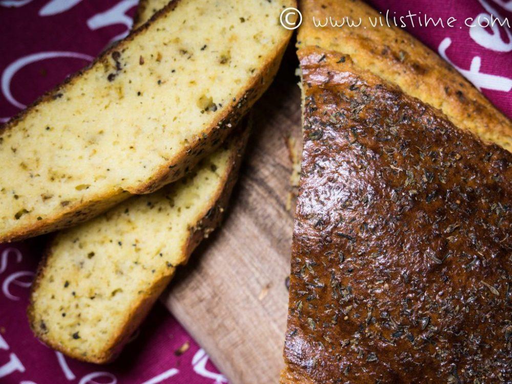 Бърз безглутенов хляб с подправки и семена