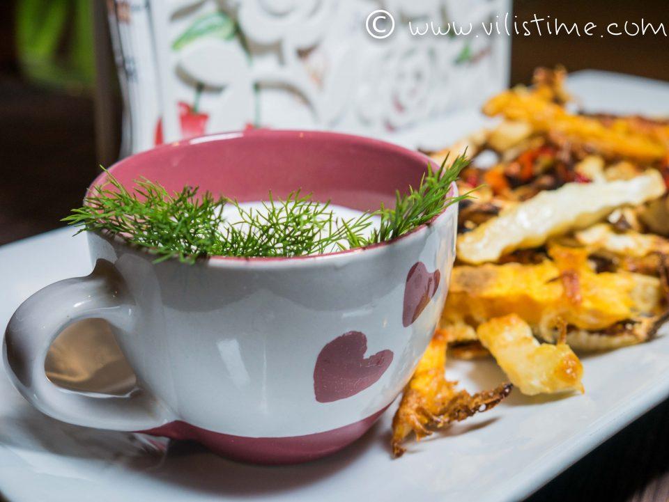 Целина и сладък картоф с пармезан и лют кашкавал