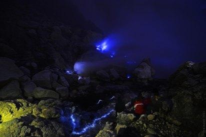The blue sulphur flames