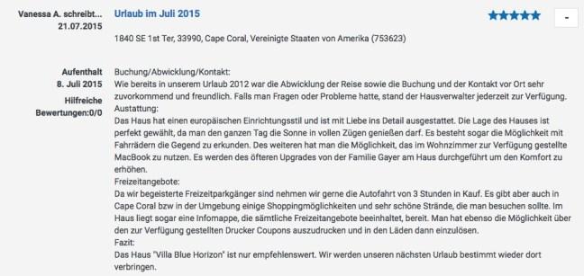 Bewertung 21.07.2015