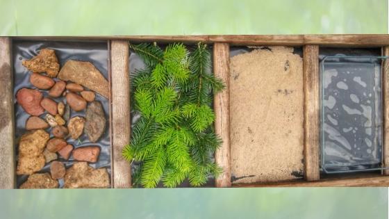 Barfu%C3%9Fpfad - Spielidee für den Garten - Meine TOP 10 DIYs