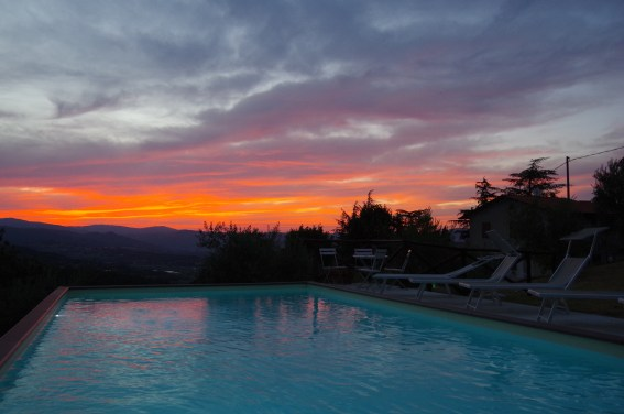 Sunset at Villa Bastiola