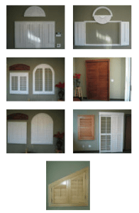 Various Shapes and Sizes of Shutters