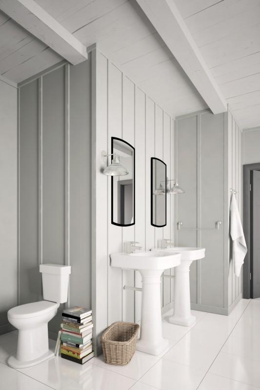 biała łazienka wstylu skandynawskim