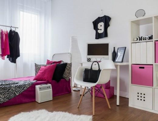 biały pokój młodzieżowy