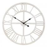 biały zegar wstylu retro