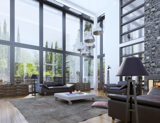 aranżacja salonu w stylu loft