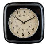 czarny stylowy zegar