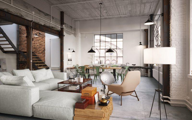 mieszkanie w stylu industrialnym