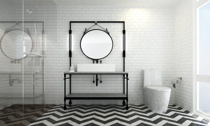 jak urządzić łazienkę w stylu industrialnym