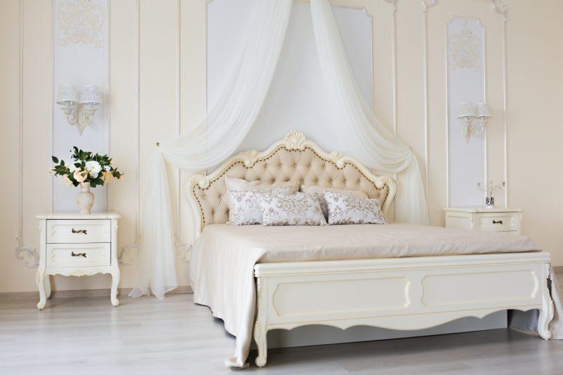 sypialnia wdawnym stylu