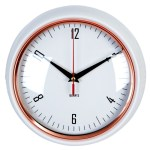 biały zegar dokuchni