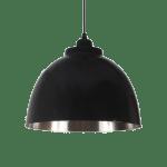 czarna lampa wisząca nadstół