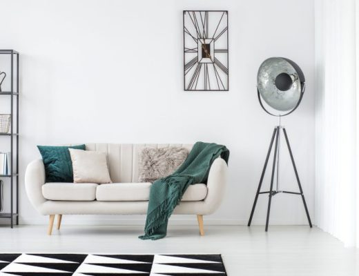 zegar w stylu skandynawskim