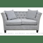elegancka nieduża pikowana sofa