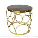 złoty stolik boczny art deco