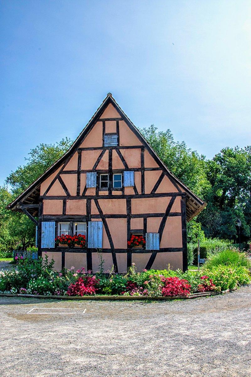 Maison Alsacienne Bleue et Rose