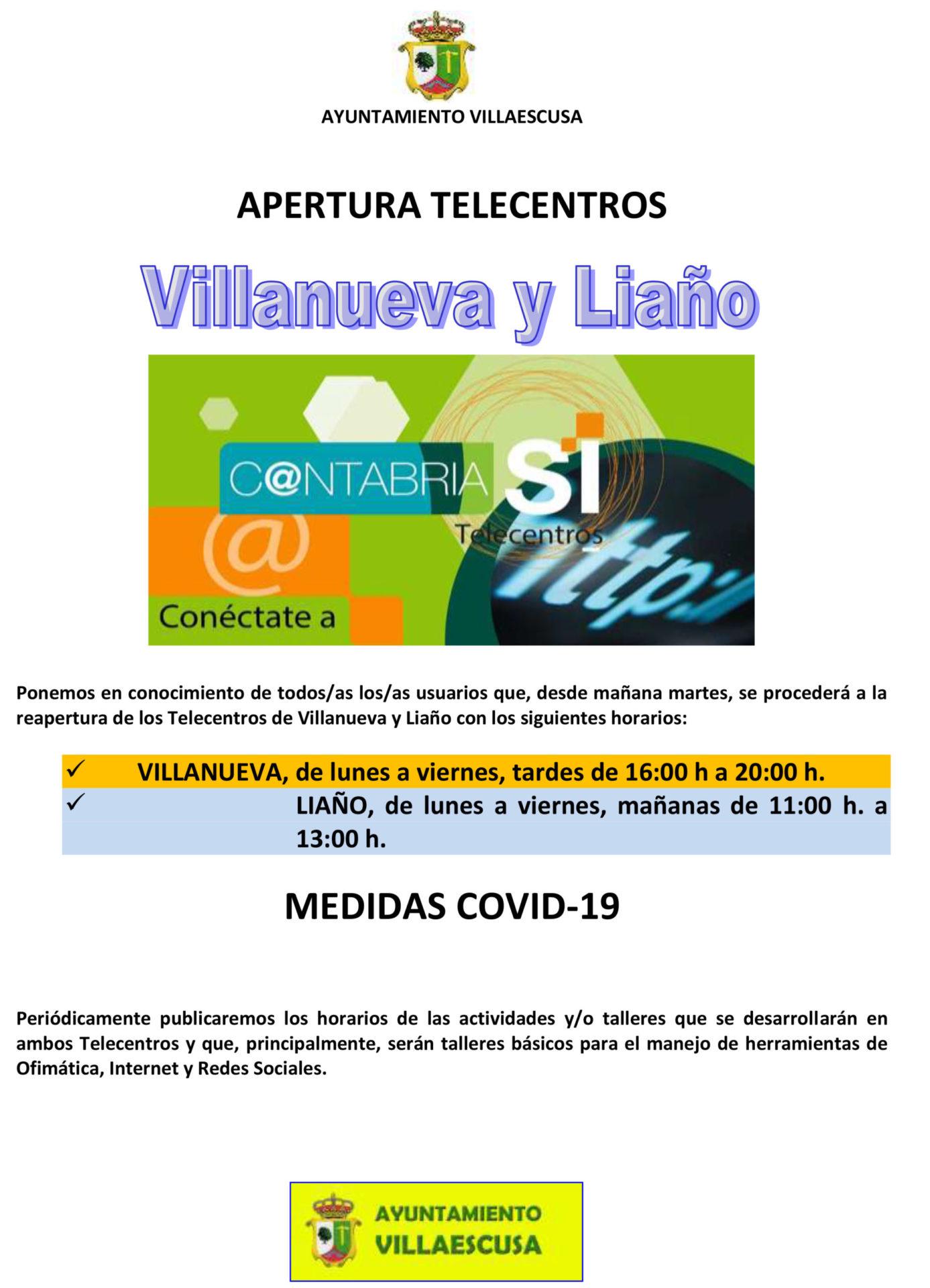 CARTEL REAPERTURA TELECENTROS ENERO 2021