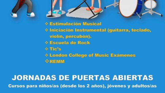CARTEL JORNADA PUERTAS ABIERTAS ESCUELA MUSICA 19 JUNIO 21