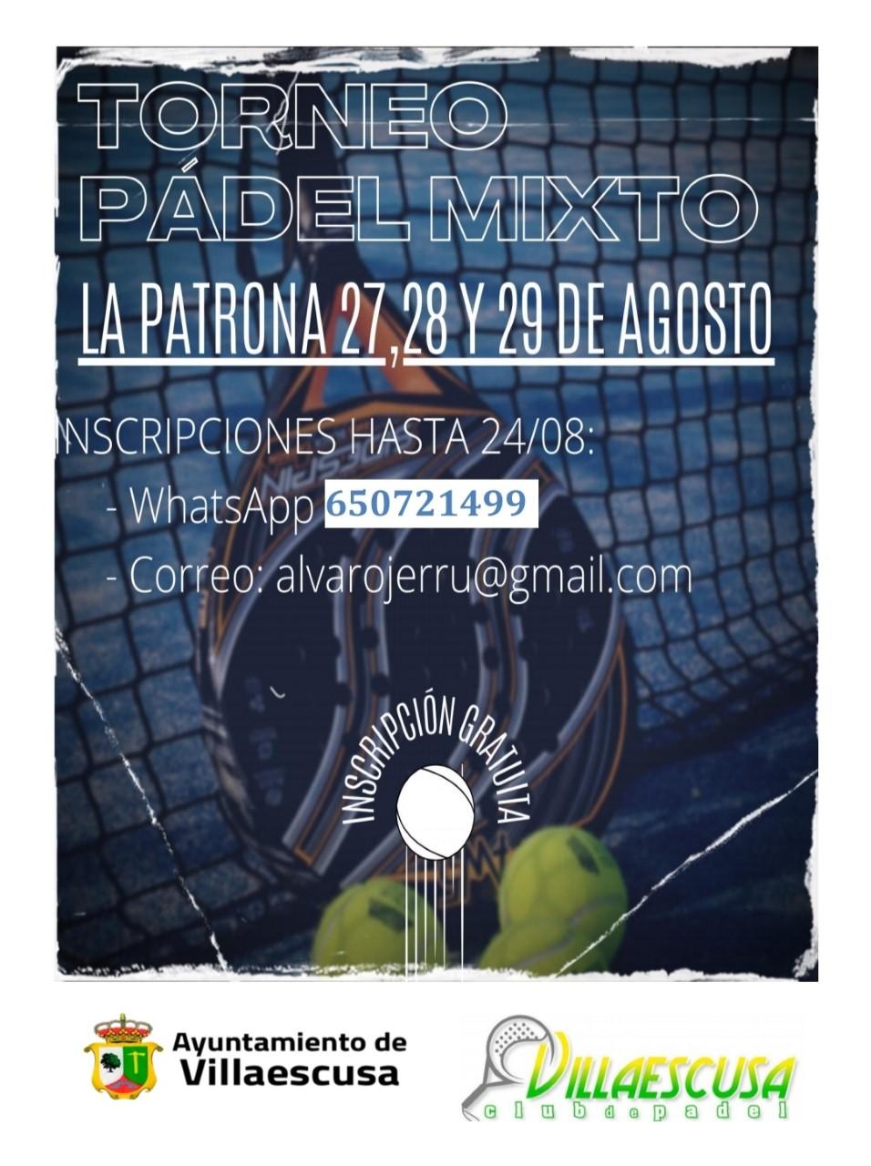 CARTEL PADEL LA PATRONA MIXTO 2021