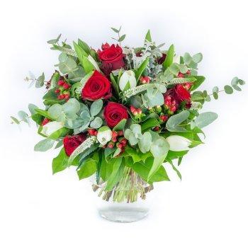 Bouquet de roses et tulipes