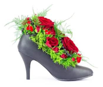 composition originale avec roses rouges pour la Saint Valentin