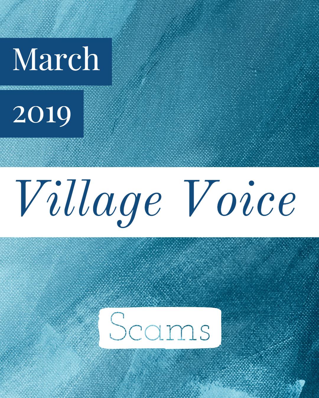 Village Voice: March 2019