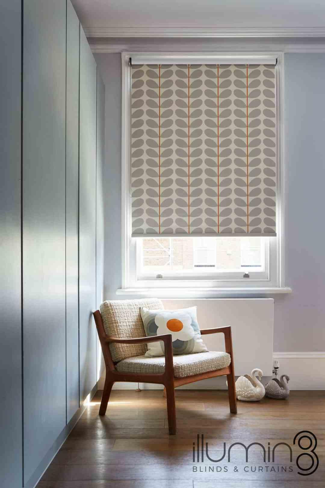 Orla Kiely Blinds, living room blinds at Village Blinds Ballymena