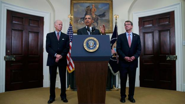 U.S. President Obama delivers statement on plans to close the Guantanamo military prison at the White House in Washington