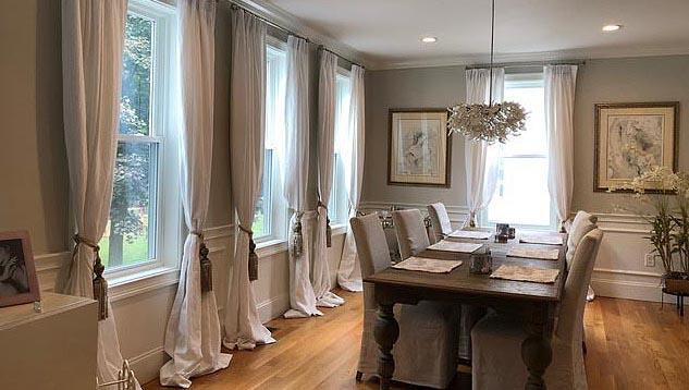custom silk linen and organic drapes